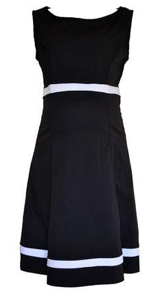 Bumpalicious black and white maternity dress
