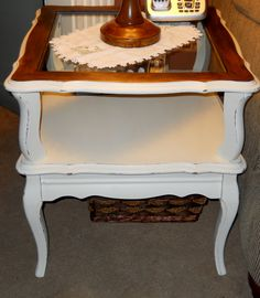 Shabby French Provincial End Table