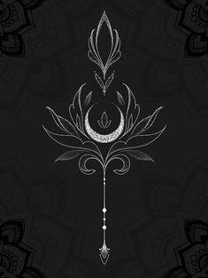 Sage art nouveau style crescent moon metal/wire tattoo designs ideas männer männer ideen old school quotes sketches Kunst Tattoos, Tattoo Drawings, Body Art Tattoos, New Tattoos, Small Tattoos, Cool Tattoos, Tatoos, Rosary Tattoos, Woman Tattoos
