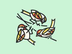 Bird Trio by Steve Wolf
