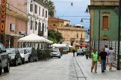 Corso Umberto I in Olbia, Sardegna