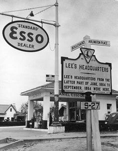 Esso gas station near Lee's Headquarters.