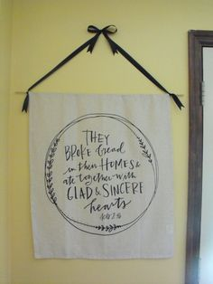 Mary & Martha Tea Towel made into a simple Wall Hanging! Thanks for sharing @casiejeans! http://www.maryandmartha.com