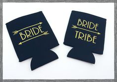 Hey, I found this really awesome Etsy listing at https://www.etsy.com/listing/265341187/bride-tribe-coozies-bridal-party-gifts