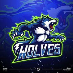 Game Logo Design, Branding Design, Esports Logo, Animal Logo, Cultura Pop, Cool Logo, Beast, Wolf, Character Design