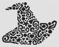 Tribal Witch Hat Cross Stitch Chart - White Willow Stitching Cross Stitch - (Powered by CubeCart)