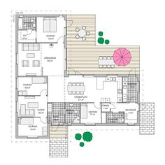 Villa Duvnäs från A-hus Modern House Plans, House Floor Plans, Sims 4 House Design, Architectural Floor Plans, House Layouts, Future House, Villa, New Homes, How To Plan
