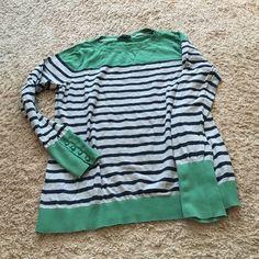 Nautica lightweight sweater Good condition! Very cute. Very lightweight. Gray, navy and green. Nautica Sweaters Crew & Scoop Necks