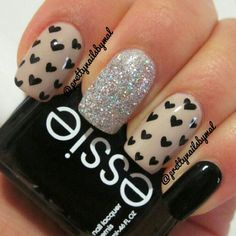 Nails Art - black cute easy nail design