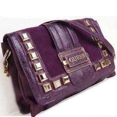 purple guess wallet