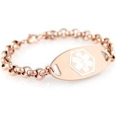 Claire Medical Alert Bracelet - Lauren's Hope Med ID Jewelry