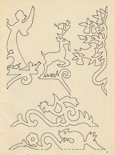 meggiecat: Christmas Papercuts / Scherenschnitte Patterns - Yet another fun book page tutorial idea!