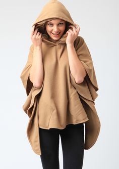 Cashmere Cape with Hood