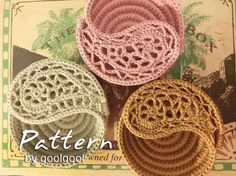 Crochet Photo Tutorial  Paisley Jewelry Dish 4. Yin by goolgool