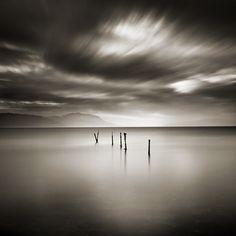 Silent Enigma by Ebru Sidar #photography #longexposure #sepia #seascape