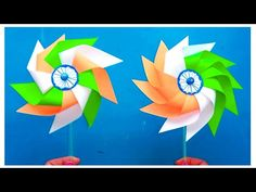 How To Make Paper Windmill/Republic/Independence Day Crafts/Pinwheel Making/Paper Art/Origami Toys - YouTube Origami Toys, Art Origami, Vj Art, Paper Windmill, Republic Day, How To Make Paper, Pinwheels, Independence Day, Paper Flowers
