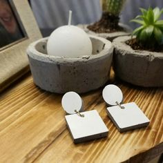 Concrete jewelry- concrete earrings-geometric