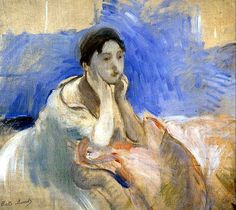 Young Woman Leaning on Her Elbows Berthe Morisot - 1894