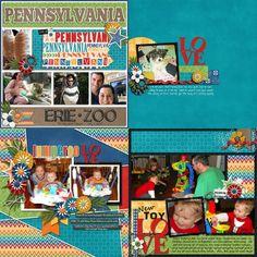 GingerScraps :: Kits :: Travelogue Pennsylvania - Kit