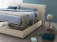 letto contenitore in tessuto sfoderabile | letto contenitore ... - Letto Imbottito Grigio Bloom Bonaldo