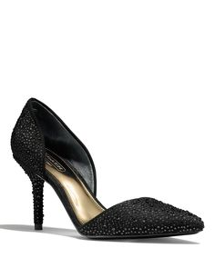 COACH Camille Pointed Toe Pump with Glitter | Bloomingdale's