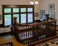 Old craftsman house with amazing stairway