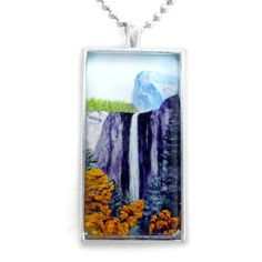 Bridalveil Falls in Yosemite Handmade Jewelry for Men or Unisex Dog Tag Style by Laura Milnor Iverson, http://www.amazon.com/dp/B0084NC6BQ/ref=cm_sw_r_pi_dp_4e7Tpb1DX84CK  Great gift for dads & grads :-).