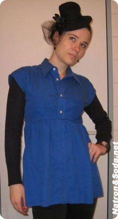Hemd wird eine Tunika - step by step Photo tutorial - Schritt für Schritt Bildanleitung