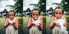 Little girl bridesmaid blows confetti tipi wedding essex uk documentary photographer