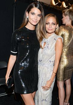Lily Aldridge and Nicole Richie sparkled in glittery dresses at the 10th Annual Style Awards at Mercedes-Benz Fashion Week.