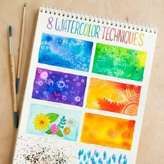 Explore the fun of watercolor with these 8 new techniques to try. Perfect for beginners!