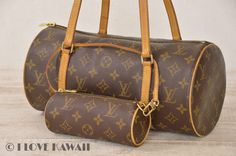 Louis Vuitton Monogram Papillon 30 With Pouch Hand Bag M51385