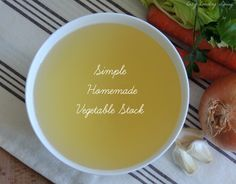 Simple Homemade Vegetable Stock | Cozy Country Living #homemade #vegetablestock #soup