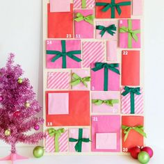 Make this colorful paper bag advent calendar with only a few supplies.