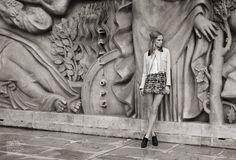 Eva Downey in Palais de Paris for Elle Romania