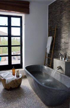 Zen stone tub