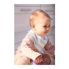 IKEA - ÖMTÅLIG, Bib, , The touch and close fastening makes it easy to put on and take off.Keeps your child dry and comfortable by protecting their clothes and skin from moisture. Ideal during teething.