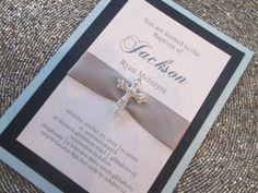 Baptism Christening Invitation with by PurpleandPlatinum on Etsy, $4.75 https://www.etsy.com/listing/173053738/baptism-christening-invitation-with?ref=shop_home_active_11