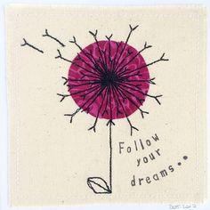 Dandelion greeting card personalised congratulations