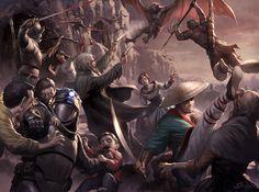 Vampire Hunter Battle by wraithdt.deviantart.com on @DeviantArt