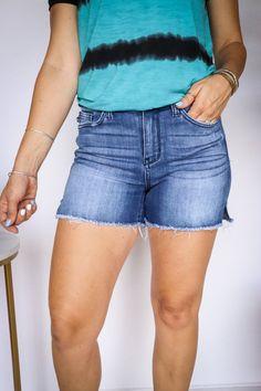Cut Off, Denim Shorts, Spandex, Cotton, Products, Fashion, Moda, Fashion Styles, Fashion Illustrations
