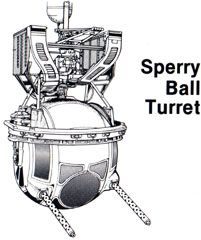 Boeing B-17 Flying Fortress Sperry Ball Turret B17 Bomber