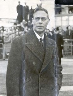 "Last photograph of King George VI before he died.  He was ""stage Four"" at the time, though nobody said a word in public.  But look at how terribly he was aging, way before his time,"
