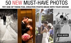 New must-have wedding photos, thanks to pinterest.