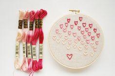 How to: Valentine Heart Stitches by wildolive, via Flickr