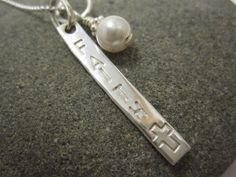 FAITH Necklace in Sterling Silver by TheSterlingCharm on Etsy, $27.00