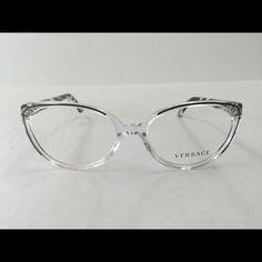 7a0589faf6236 Versace plastic prescription eyewear frame Description The Versace VE3157  Eyeglasses have an eye size of 54mm