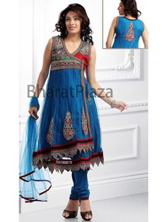 Teal Blue Churidar Kameez Item code : SLKD517A  http://www.bharatplaza.com/new-arrivals/salwar-kameez/teal-blue-churidar-kameez-slkd517a.html https://www.facebook.com/bharatplazaportal https://twitter.com/bharat_plaza