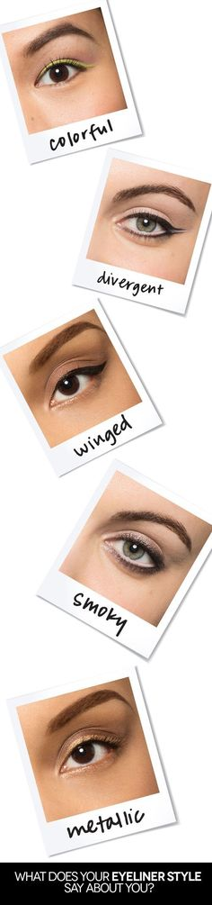 Beauty Inspiration: The way you apply your eyeliner says more than you think!