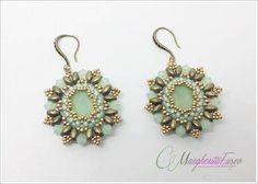Gonzaga earrings tutorial. DIY pattern earrings by 75marghe75